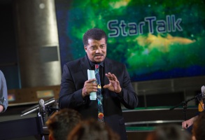 NEW YORK, N.Y. - Neil deGrasse Tyson on set of the filming of StarTalk on June 24, 2015.