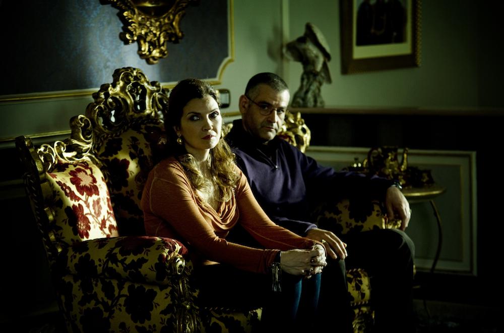 Fortunato Cerlino as Pietro Savastano, Maria Pia Calzone as Imma Savastano- Gommorah _ Season 1, Episode 1