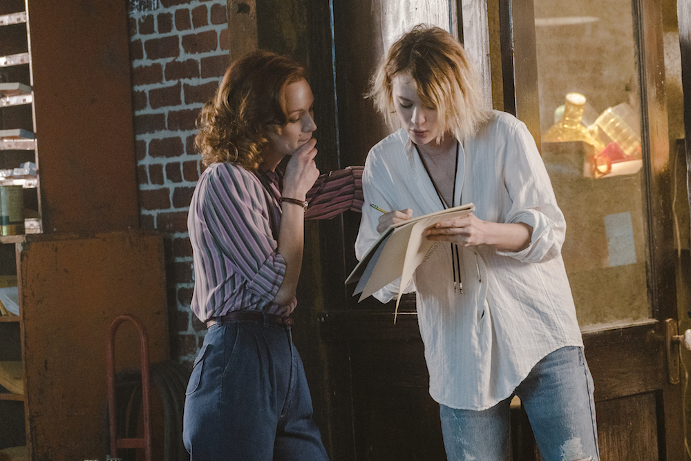 Kerry Bishé as Donna Clark, Mackenzie Davis as Cameron Howe - Halt and Catch Fire _ Season 3, Episode 1