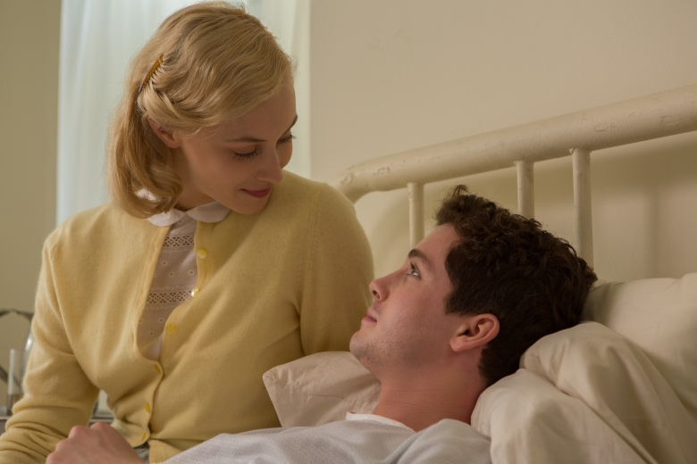 "Sarah Gadon and Logan Lerman in ""Indignation"""