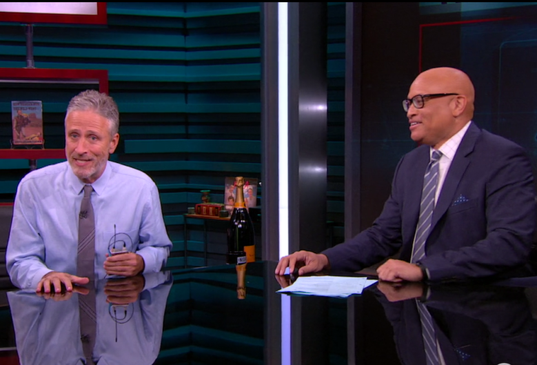 "John Stewart on ""The Nightly Show with Larry Wilmore."""