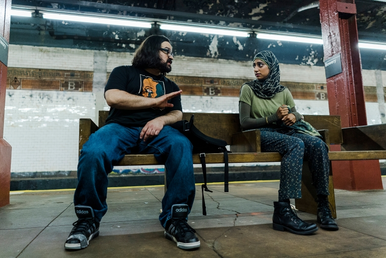 "MR. ROBOT -- ""eps2.6_succ3ss0r.p12"" Episode 208 -- Pictured: (l-r) Azar Khan as Mobley, Sunita Mani as Trenton -- (Photo by: Michael Parmelee/USA Network"