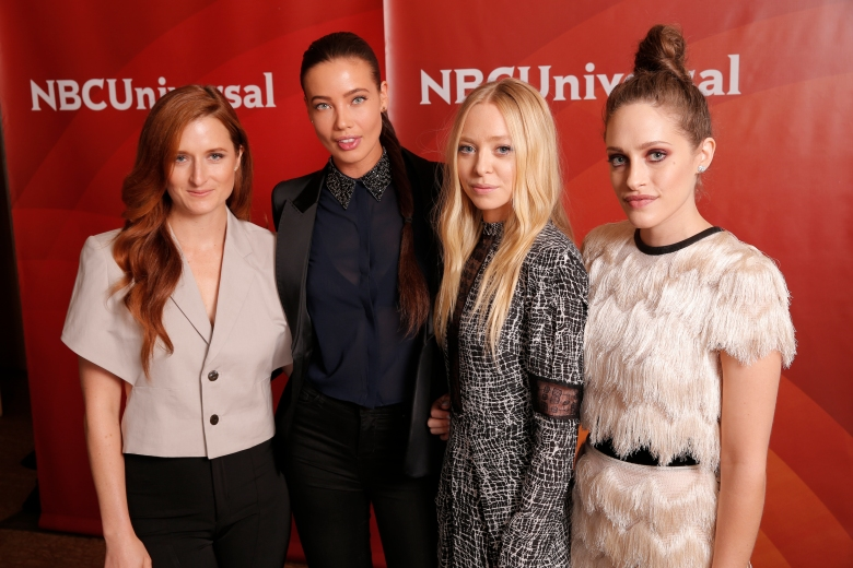 Grace Gummer, Stephanie Corneliussen, Portia Doubleday and Carly Chaikin