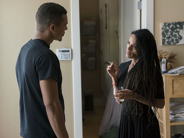 "Ismael Cruz Cordova and Lisa Bonet in ""Ray Donovan"""