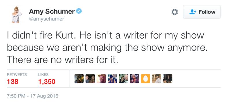 Amy Schumer tweet