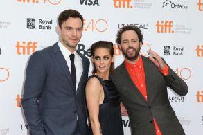 Nicholas Hoult, Kristen Stewart and Drake Doremus at TIFF Premiere
