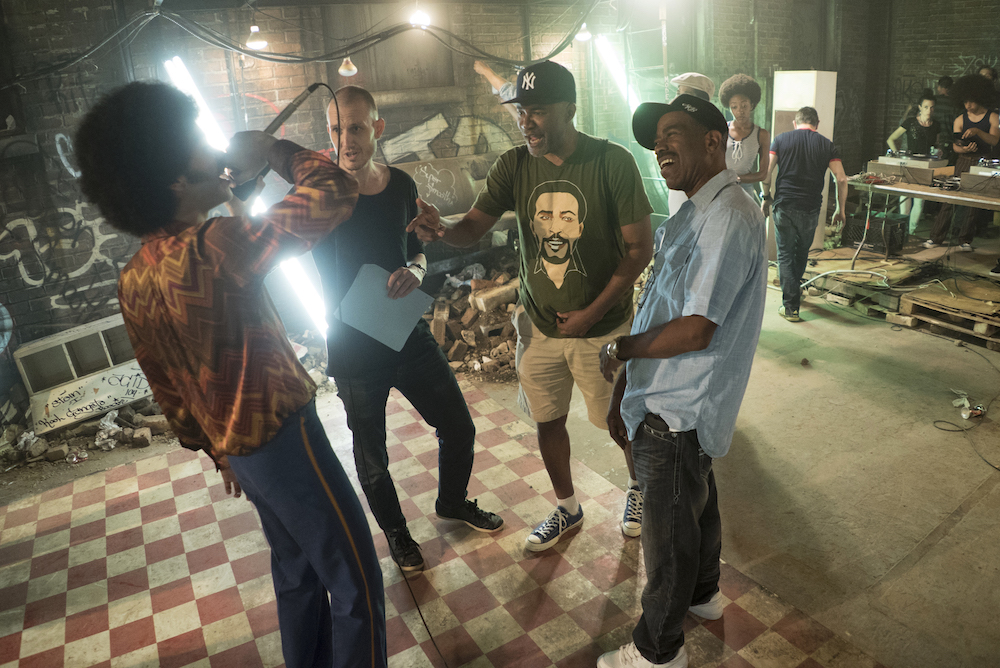 The Get Down Behind-the-Scenes Justice Smith, Elliott Wheeler, Nelson George, Kurtis Blow