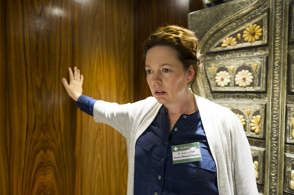 Olivia Colman as Angela Burr; single - The Night Manager _ Season 1, Episode 6