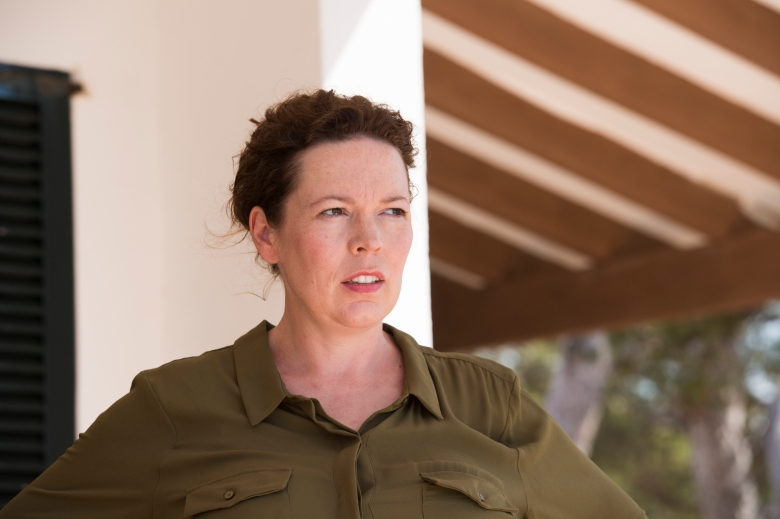 Olivia Colman as Angela Burr; single- The Night Manager _ Season 1, Episode 2- Photo Credit: Des Willie/AMC