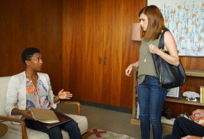 "YOU'RE THE WORST -- ""Fix Me, Dummy"" -- Episode 302 (Airs Wednesday, September 7, 10:00 pm e/p -- Pictured: (l-r) Samira Wiley as Justina, Aya Cash as Gretchen."