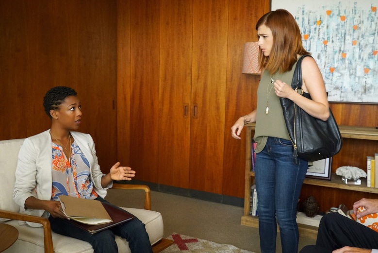 """YOU'RE THE WORST -- """"Fix Me, Dummy"""" -- Episode 302 (Airs Wednesday, September 7, 10:00 pm e/p -- Pictured: (l-r) Samira Wiley as Justina, Aya Cash as Gretchen."""