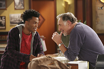 """Jermaine Fowler and Judd Hirsch, """"Superior Donuts"""""""