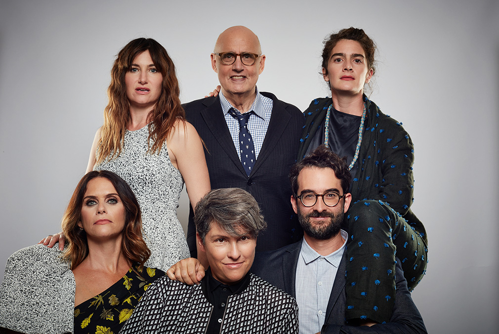 """Transparent"" - clockwise from top left: Kathryn Hahn, Jeffrey Tambor, Gaby Hoffmann, Jay Duplass, Jill Soloway, Amy Landecker"