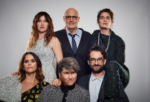 """Transparent"" - clockwise from top left: Kathryn Hahn, Jeffrey Tambor, Gaby Hoffmann, Jay Duplass, Jill Soloway, Amy Landecker"