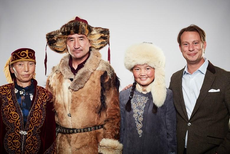 Alma Dalaykan, Nurgaiv Rys, Aisholpan Nurgaiv and director Otto Bell