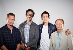 actor Aaron Eckhart, writer/director Ben Younger, actor Miles Teller, producer Bruce Cohen