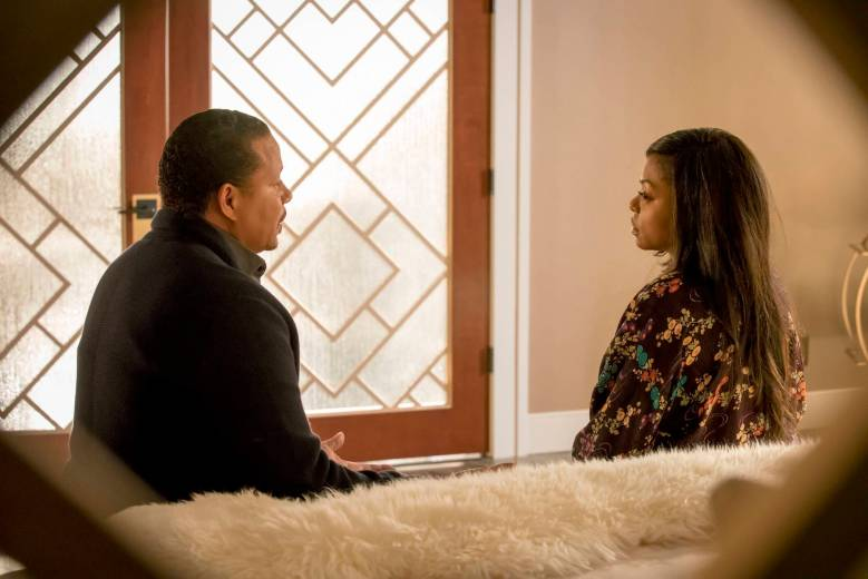 "EMPIRE: Pictured L-R: Terrence Howard and Taraji P. Henson an in the ""Sin That Amends"" episode of EMPIRE airing Wednesday, Sept. 28 (9:00-10:00 PM ET/PT) on FOX. ©2016 Fox Broadcasting Co: CR: Chuck Hodes/FOX"