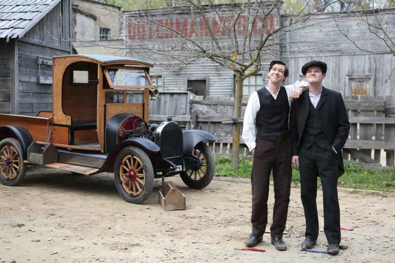 Bug Hall and Robert Aramayo in 'Harley and the Davidsons'