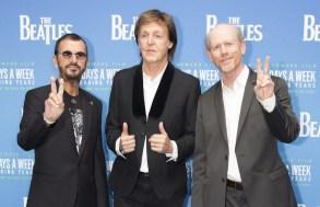 Ringo Starr, Paul McCartney and Ron Howard