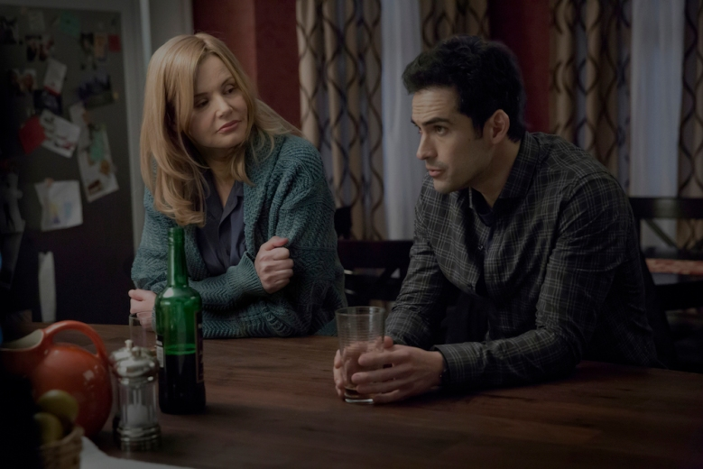 THE EXORCIST: L-R: Geena Davis and Alfonso Herrera in THE EXORCIST coming soon to FOX. ©2016 Fox Broadcasting Co.
