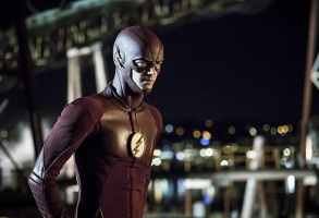 "Grant Gustin in ""The Flash."""