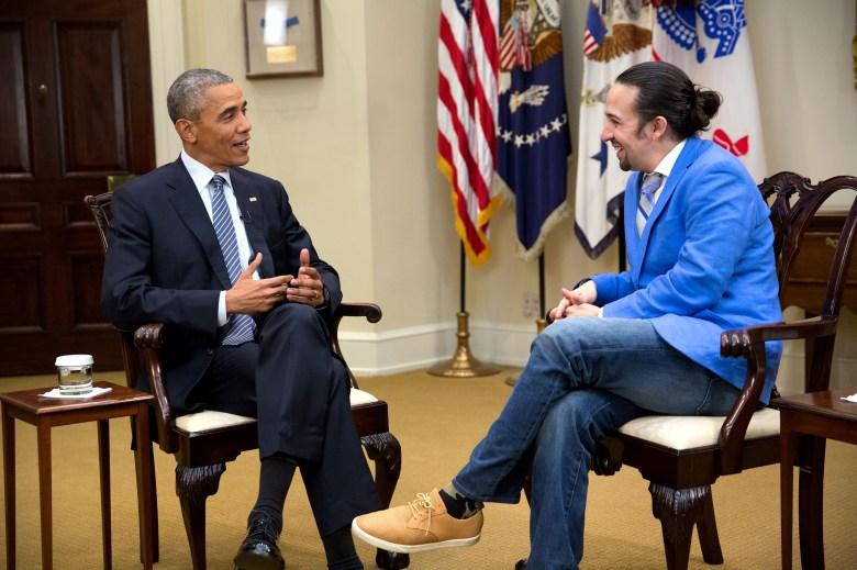 President Obama, Lin-Manuel Miranda