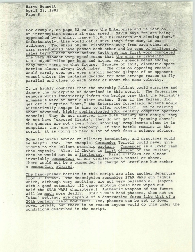 Project 366: Gene Roddenberry letter to Harve Bennett - Page 8