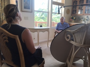 Filmmaker Heidi Ewing interviews Reverend Wayne Robinson in Fort Myers, FL