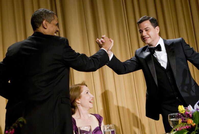 President Barack Obama and Jimmy Kimmel at the White House Correspondents Association Dinner, 2012