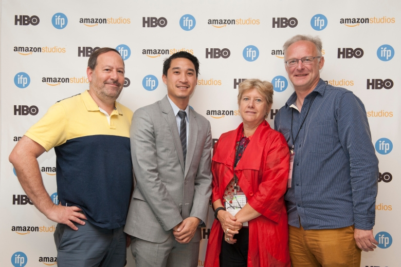 Submarine co-president Josh Braun, ICM agent Peter Trinh, APA agent Lucy Stille and Slated Editorial Director Colin Brown