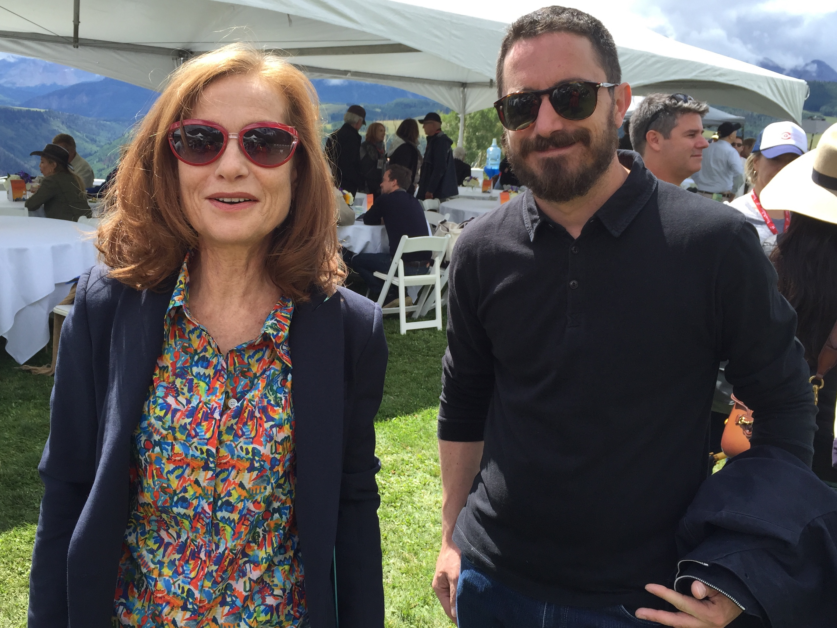 Isabelle Huppert and Pablo Larrain