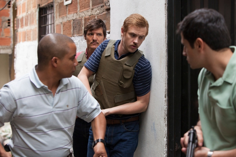 """Pedro Pascal and Boyd Holbrook in """"Narcos"""""""