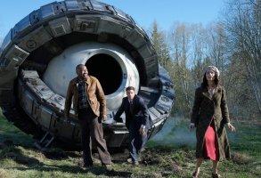 "TIMELESS -- ""Pilot"" -- Pictured: (l-r) Malcolm Barrett as Rufus Carlin, Matt Lanter as Wyatt Logan, Abigail Spencer as Lucy Preston"