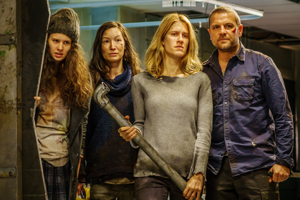 "VAN HELSING -- ""Help Me"" Episode 101 -- Pictured: (l-r) Avery Konrad as Cynthia, Jennifer Spece as Karen, Alison Wandzura as Nicole, David Cubitt as John"