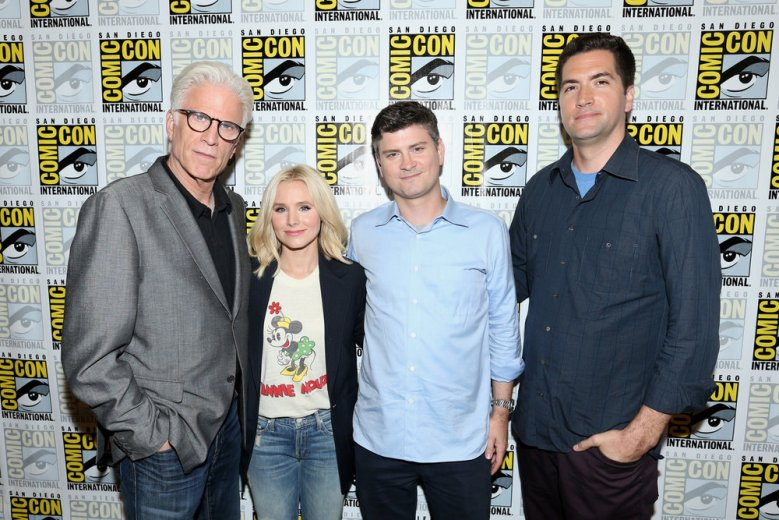 "Ted Danson, Kristen Bell, Mike Schur, Drew Goddard, ""The Good Place"""