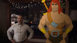 "SON OF ZORN: L-R: Tim Meadows and Zorn (voiced by Jason Sudeikis) in the ""Workplace Battles"" episode of SON OF ZORN"