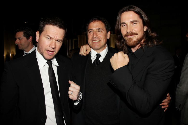 Mark Wahlberg, David O. Russell and Christian Bale