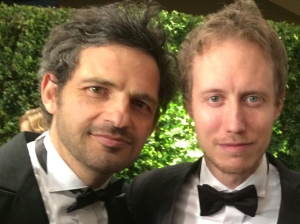 "Géza Röhrig and László Nemes of ""Son of Saul."""