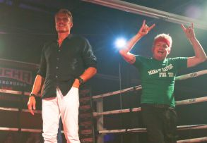 Dolph Lundgren and Tim League at the Fantastic Fest debates