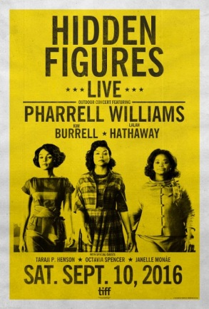 Hidden Figures poster Pharrell Williams Taraji P. Henson Octavia Spencer