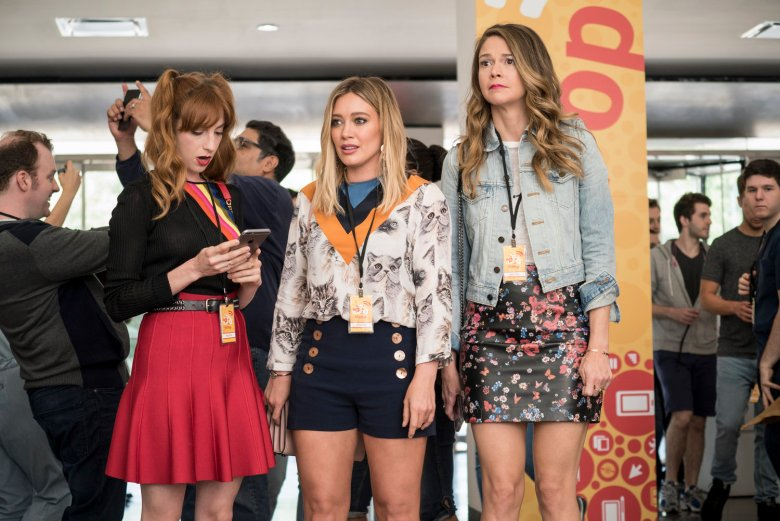 """Younger"": Molly Bernard, Hilary Duff and Sutton Foster"