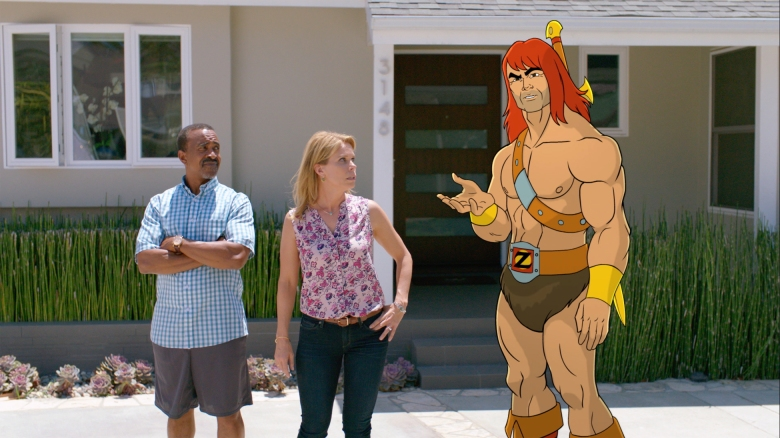 SON OF ZORN: L-R: Tim Meadows, Cheryl Hines and Zorn (voiced by Jason Sudeikis) in SON OF ZORN coming soon to FOX. ©2016 Fox Broadcasting Co. Cr: FOX