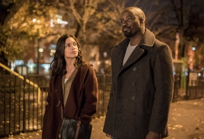 "Rosario Dawson and Mike Colter in ""Luke Cage"""