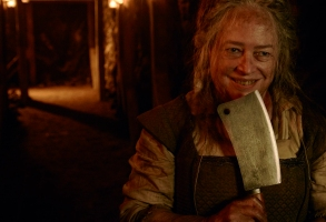 AMERICAN HORROR STORY: ROANOKE -- Pictured: Kathy Bates as Butcher. CR: Frank Ockenfels/FX