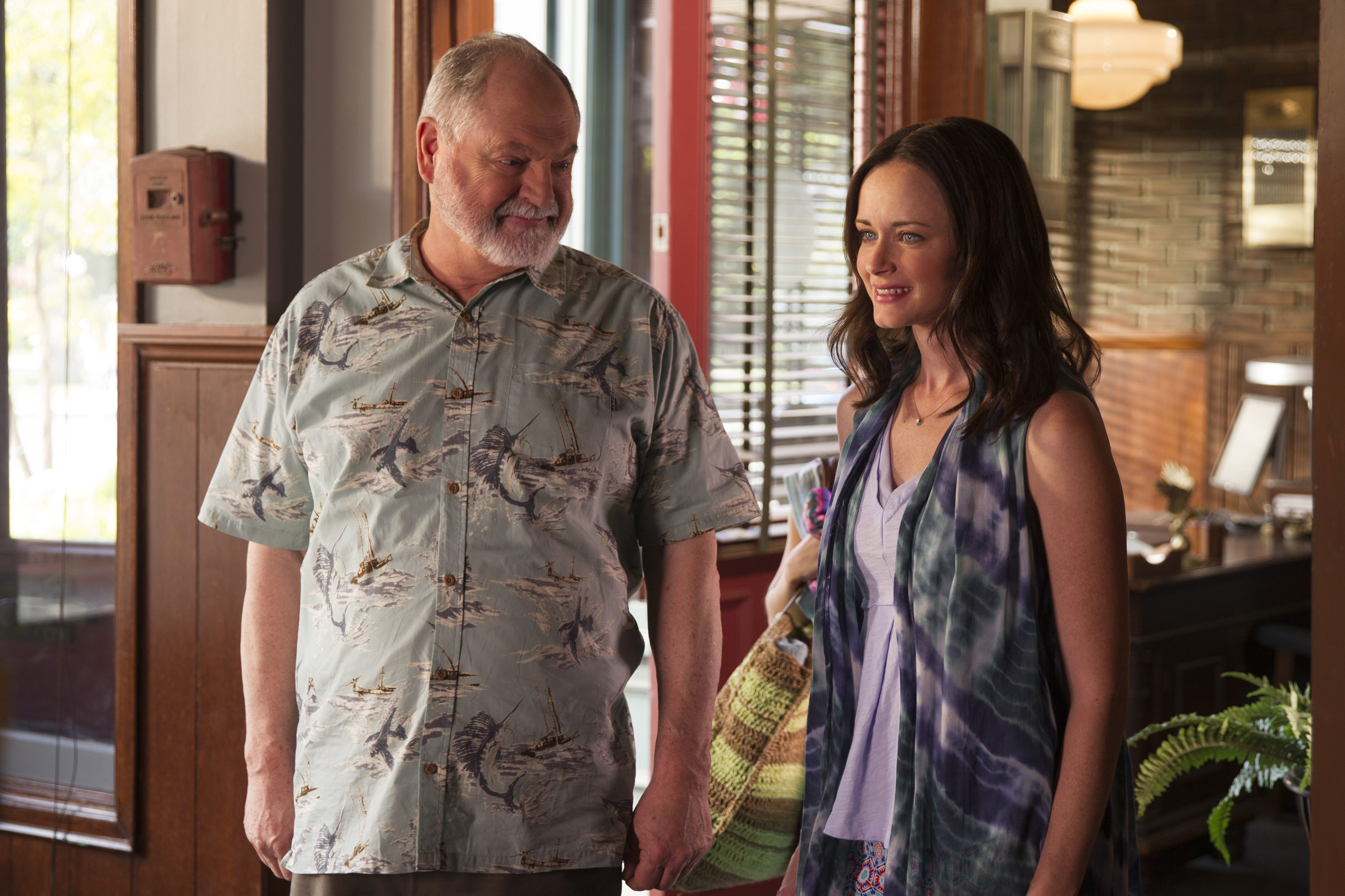 Michael Winters and Alexis Bledel,