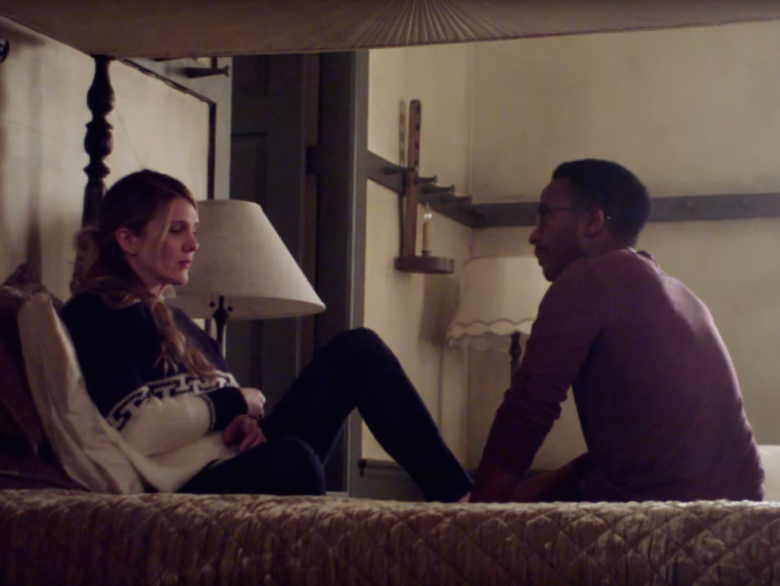 "Lily Rabe and Andre Holland in ""American Horror Story."""
