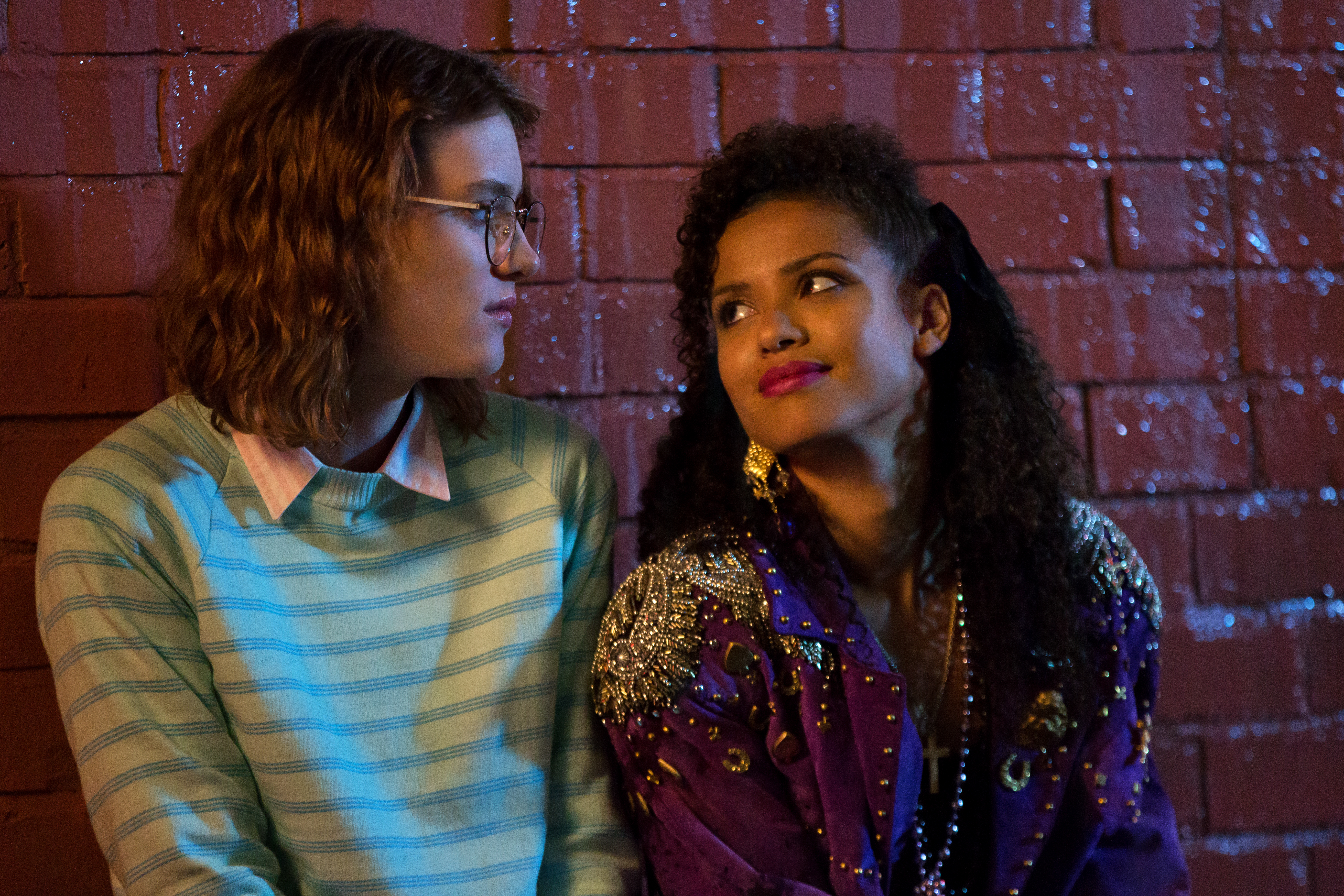 "Mackenzie Davis and Gugu Mbatha-Raw in ""Black Mirror."""