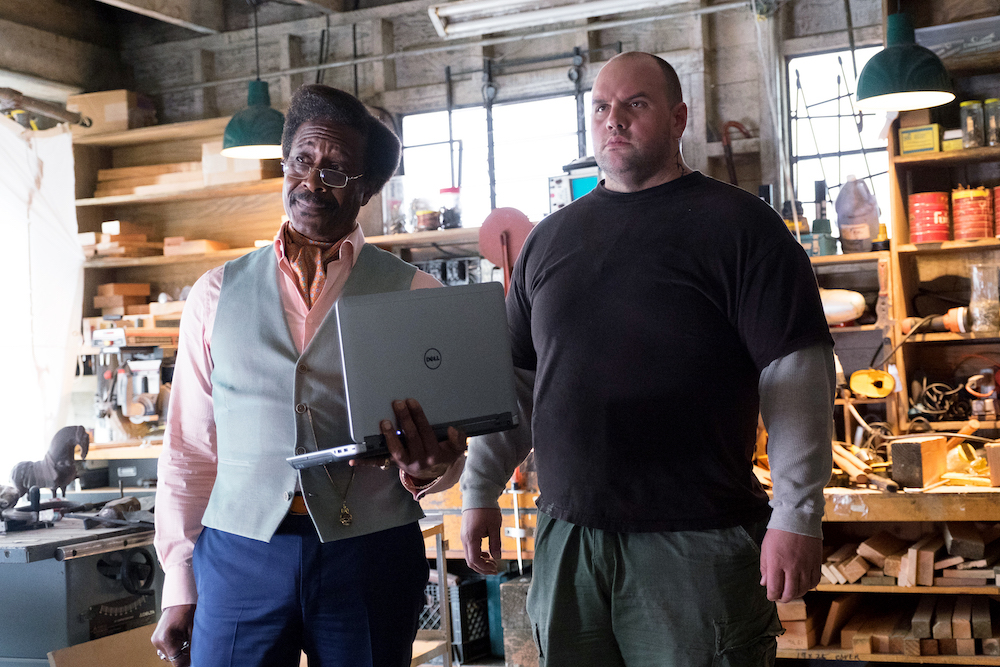 "Chance- Hulu Original, Season 1 Episode 101 ""The Summer of Love"" Pictured: Clarke Peters as Carl and Ethan Suplee"