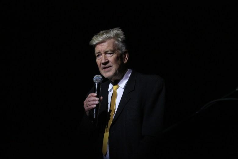 David Lynch at the Festival of Disruption.
