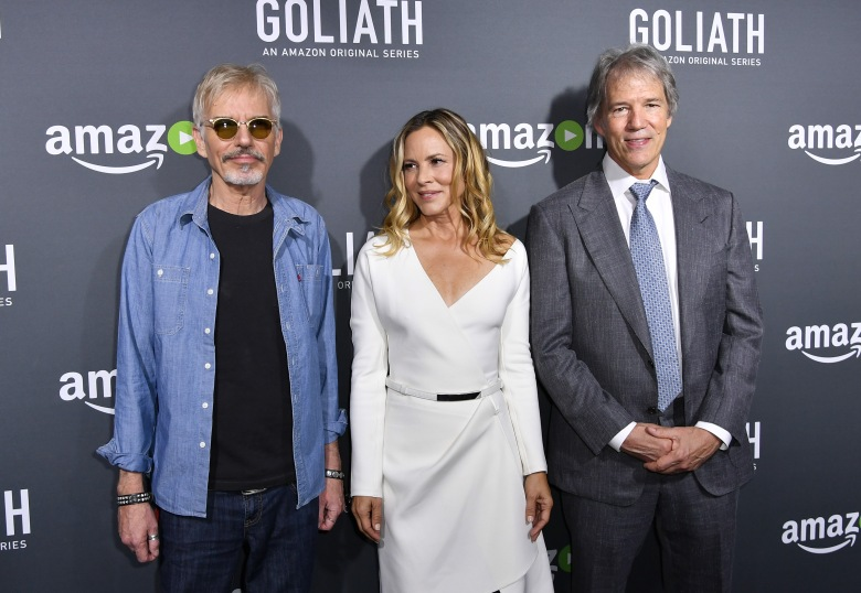 "Billy Bob Thornton, Maria Bello and David E. Kelley, ""Goliath"""